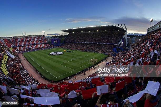 General view of Vincente Calderon stadium prior to start the UEFA Champions League quarter final second leg match between Club Atletico de Madrid and...