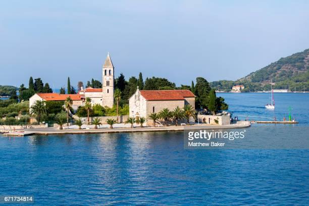 A general view of Vis harbour on August 31 2016 in Vis Croatia