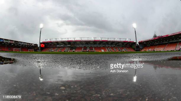A general view of Vitality Stadium ahead of the Premier League match between AFC Bournemouth and Manchester United at Vitality Stadium on November 02...