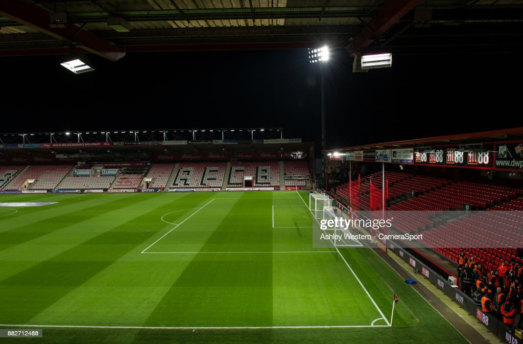 A general view of Vitality Stadium, home of Bournemouth during the Premier League match between AFC Bournemouth and Burnley at Vitality Stadium on November 29, 2017 in Bournemouth, England.