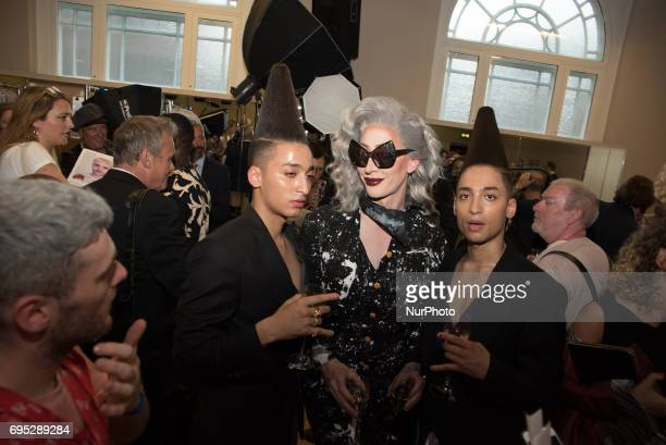 General view of Vivienne Westwood backstage during the London Fashion Week Men's in London on June 12 2017 British iconic fashion designer Vivienne...