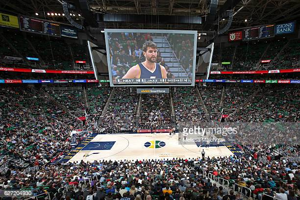 A general view of vivintSmartHome Arena during the Miami Heat game against the Utah Jazz on December 1 2016 in Salt Lake City Utah NOTE TO USER User...