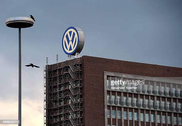 General view of Volkswagen Group headquarters during sunset on September 23 2015 in Wolfsburg Germany Volkswagen CEO Martin Winterkorn has today...