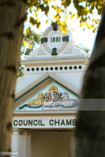 General view of Wagga Wagga Historic Council Chambers on May 05, 2019 in Wagga Wagga, Australia. Wagga Wagga is a major regional city in the Riverina...