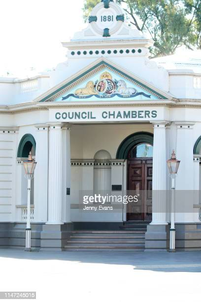 General view of Wagga Wagga Historic Council Chambers on May 05, 2019 in Wagga Wagga, Australia. Wagga Wagga is a major regional city in the Riverina...