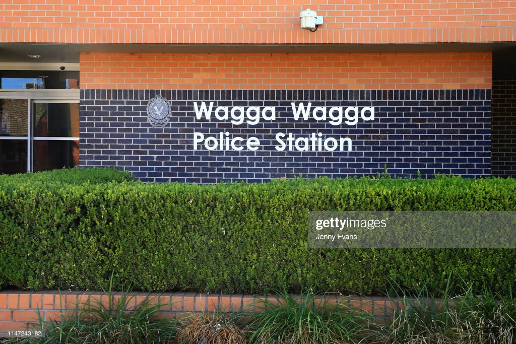 A general view of Wagga Wagga Police Station on May 05, 2019
