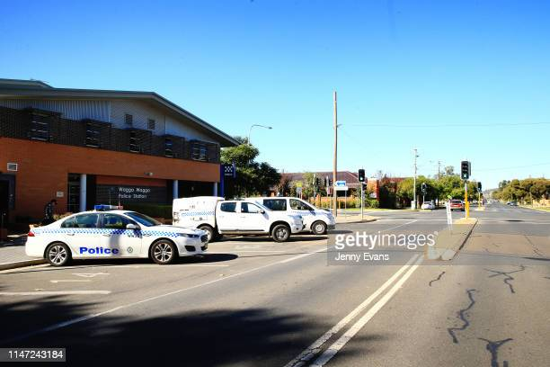 General view of Wagga Wagga Police Station on May 05, 2019 in Wagga Wagga, Australia. Wagga Wagga is a major regional city in the Riverina region of...