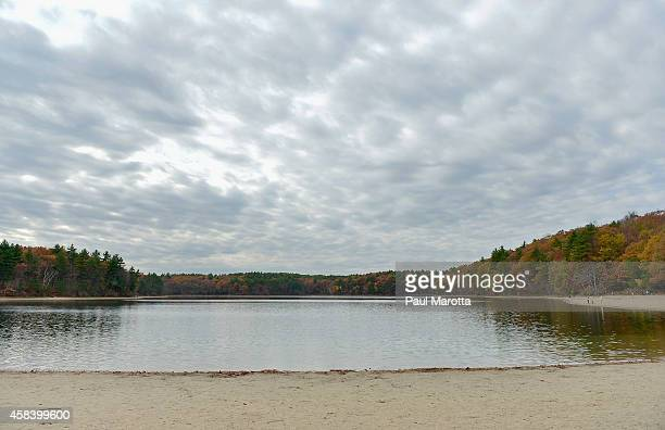 A general view of Walden Pond on November 4 2014 in Concord MA