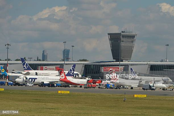 A general view of Warsaw's main airport Frederick Chopin On Wednesday 22 June 2016 in Warsaw Poland