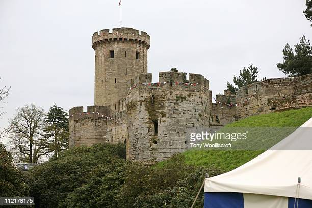 General view of Warwick Castle during the launch of a new attraction based on the hit BBC One drama series 'Merlin' on April 13 2011 in Warwick...