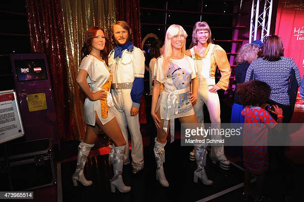 A general view of wax figure of AnniFrid Lyngstad Benny Andersson Agnetha Faeltskog Bjoern Ulvaeus of ABBA is seen during the presentation of...