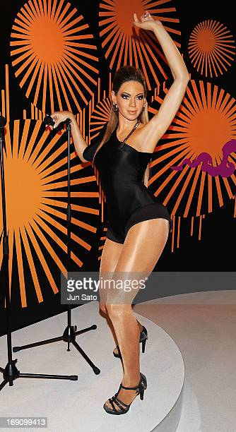A general view of wax figure of Beyonce is seen at Madame Tussauds on May 20 2013 in Tokyo Japan