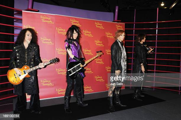 A general view of wax figures of X Japan band members is seen at Madame Tussauds on May 20 2013 in Tokyo Japan