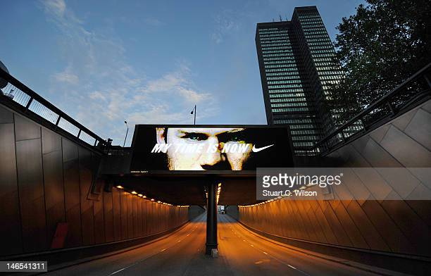 General view of Wayne Rooney MY TIME IS NOW Nike billboard campaign across London marks Wayne Rooney's return from suspension for England tonight on...