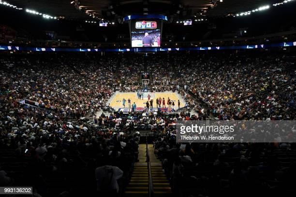 A general view of week three of the BIG3 three on three basketball league game at ORACLE Arena on July 6 2018 in Oakland California