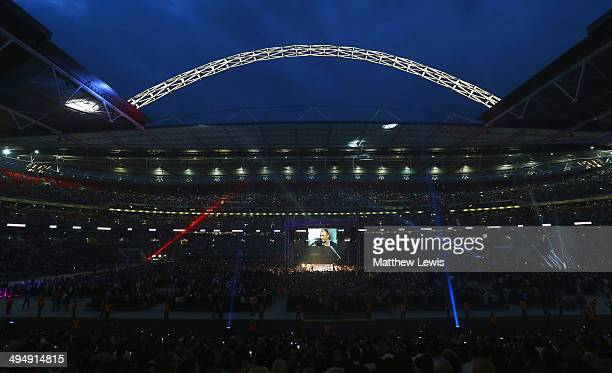 A general view of Wembley during the James De Gale of England and Brandon Gonzales of the USA fight at Wembley Stadium on May 31 2014 in London...
