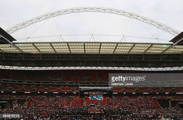 A general view of Wembley during the Kevin Mitchell of England and Ghislain Maduma of Canda fight at Wembley Stadium on May 31 2014 in London England