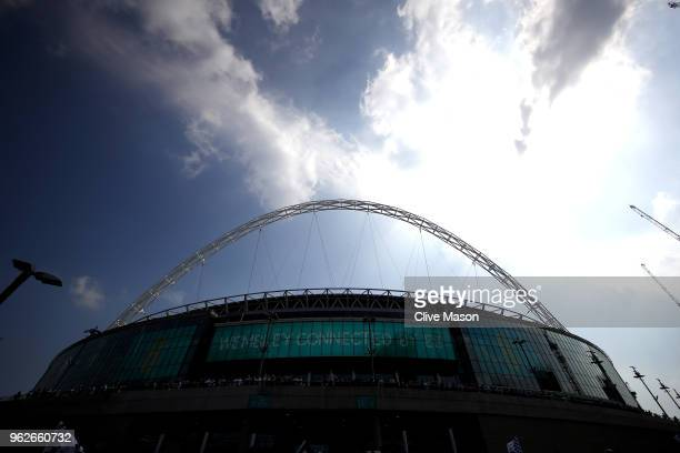 A general view of Wembley Stadium ahead of the Sky Bet Championship Play Off Final between Aston Villa and Fulham at Wembley Stadium on May 26 2018...
