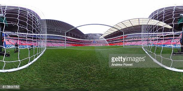General view of Wembley Stadium before the Capital One Cup Final match between Liverpool and Manchester City at Wembley Stadium on February 28 2016...
