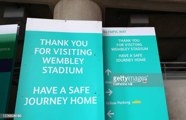 General view of Wembley Stadium direction signs stored on what should have been FA Cup Final day on May 23 2020 in London England The British...