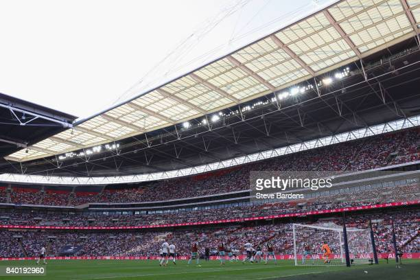 General view of Wembley Stadium during the Premier League match between Tottenham Hotspur and Burnley at Wembley Stadium on August 27 2017 in London...