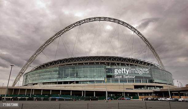 General view of Wembley Stadium on August 1, 2006 in London, England. The stadium was due for completion in August 2005. However, Wembley may not be...