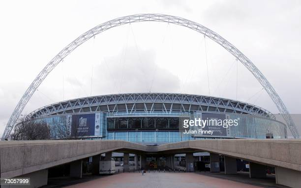 General view of Wembley Stadium on January 20, 2007 in London, England.