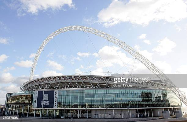 General view of Wembley Stadium on January 21, 2007 in London, England.