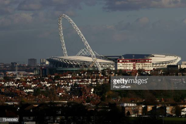 A general view of Wembley Stadium on March 1 2007 in London England