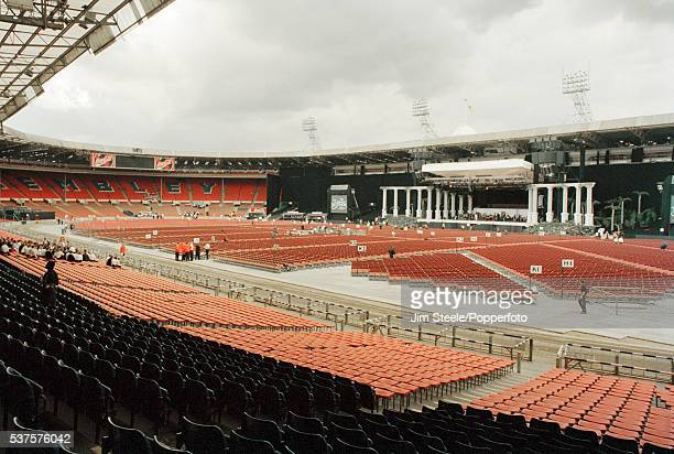 A general view of Wembley Stadium prior to The Three Tenors performance in London on the 6th July 1996