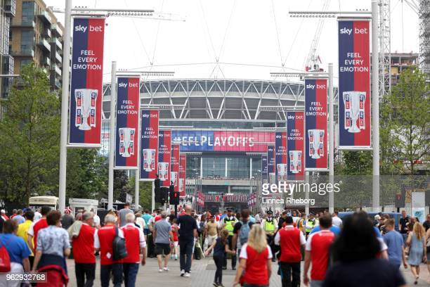 General view of Wembley way prior to the Sky Bet League One Play Off Final between Rotherham United and Shrewsbury Town at Wembley Stadium on May 27...