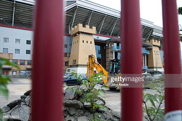 A general view of West Ham United's old Boleyn Ground stadium on the day West Ham are to play their first game at the new London Stadium in Stratford...