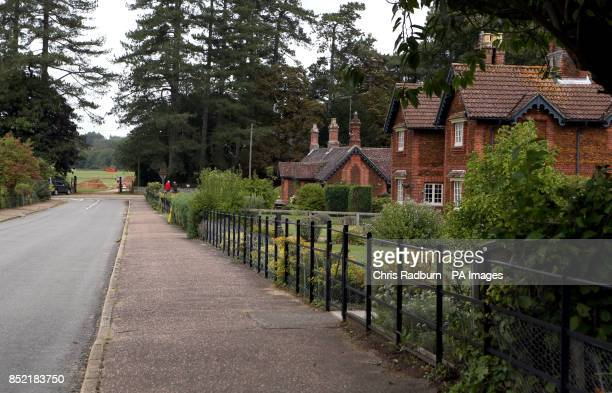 General view of West Newton village Norfolk a neighbouring village to Anmer and Anmer Hall on the Royal Sandringham Estate in Norfolk which the Duke...
