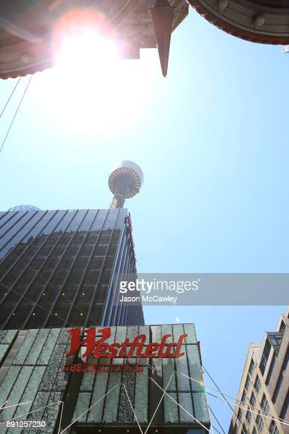 A general view of Westfield Tower Sydney on December 13 2017 in Sydney Australia Westfield Corporation is set to be taken over by French commercial...