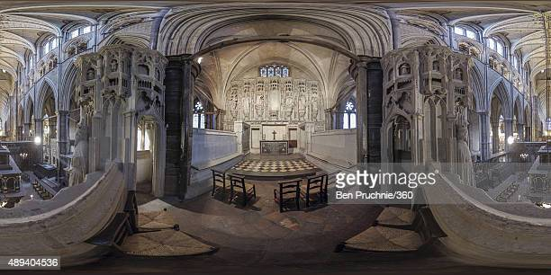 A general view of Westminster Abbey from Henry V's secret chapel on September 15 2015 in London England To mark the 600th anniversary of the Battle...