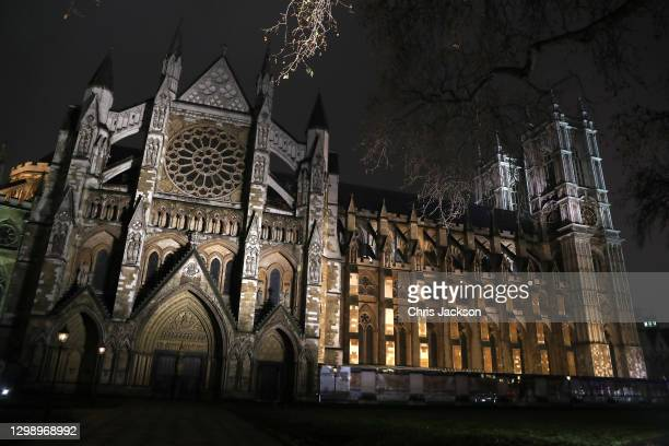 General view of Westminster Abbey on January 27, 2021 in London, England.