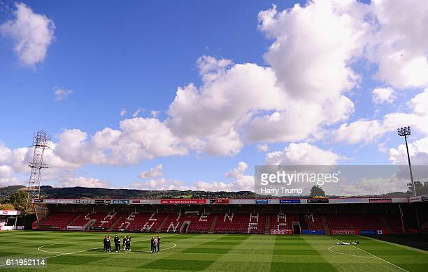 General view of Whaddon Road during The Emirates FA Cup Qualifying Third Round match between Gloucester City and Hemel Hempstead Town at Whaddon Road...