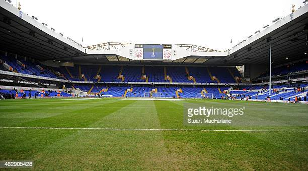 A general view of White Hart Lane before the Barclays Premier League match between Tottenham Hotspur and Arsenal on February 7 2015 in London England