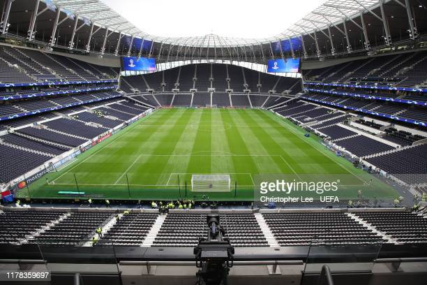 General view of White Hart Lane before the UEFA Champions League group B match between Tottenham Hotspur and Bayern Muenchen at Tottenham Hotspur...