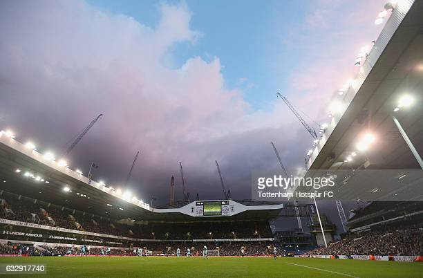 General view of White Hart Lane during the Emirates FA Cup Fourth Round match between Tottenham Hotspur and Wycombe Wanderers at White Hart Lane on...