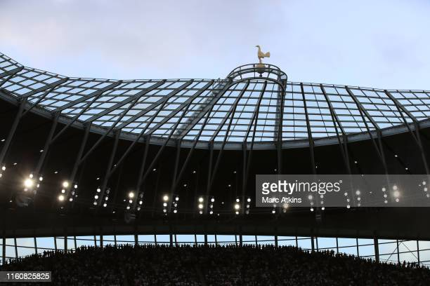 A general view of White Hart Lane stadium during the Premier League match between Tottenham Hotspur and Aston Villa at Tottenham Hotspur Stadium on...