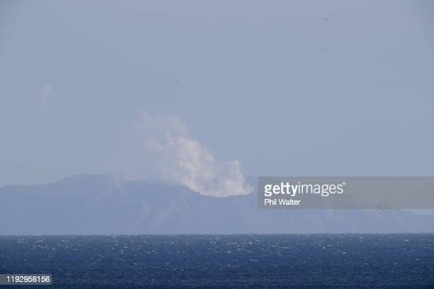 A general view of White Island on December 10 2019 in Whakatane New Zealand Five people are confirmed dead and several are missing following the...
