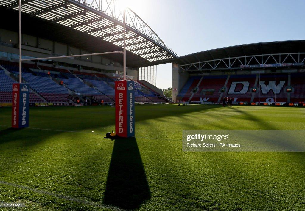 Wigan Warriors v Salford Red Devils - Betfred Super League - DW Stadium : News Photo
