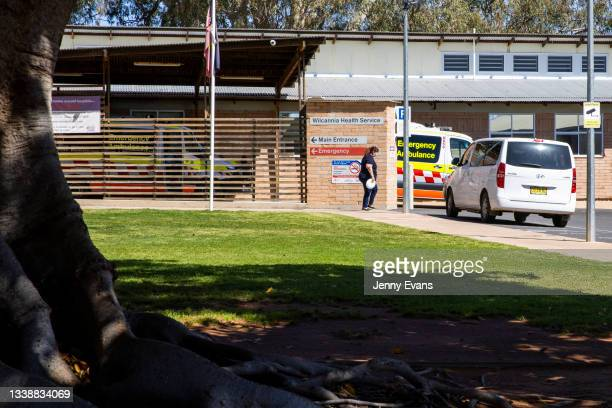 General view of Wilcannia hospital on September 07, 2021 in Wilcannia, Australia. Thirty motorhomes have been set up in Wilcannia to help local...