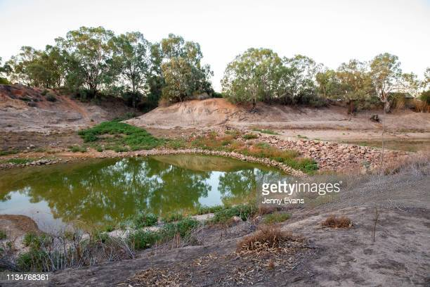 General view of Wilcannia weir on March 04, 2019 in Wilcannia, Australia. The Barkandji people - meaning the river people - live in Wilcannia, a...