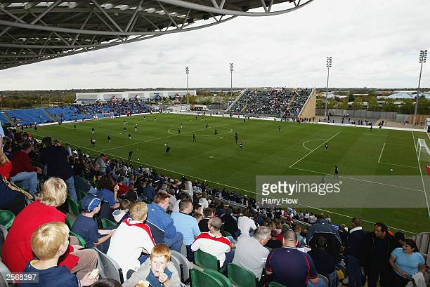 General view of Wimbledon FC during their first match at their new stadium in Milton Keynes during the Nationwide League Division One match between...