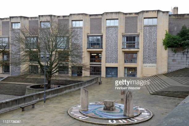 A general view of Winchester Crown Court on February 06 2019 in Winchester England Ceon Broughton is on trial for manslaughter after supplying the...