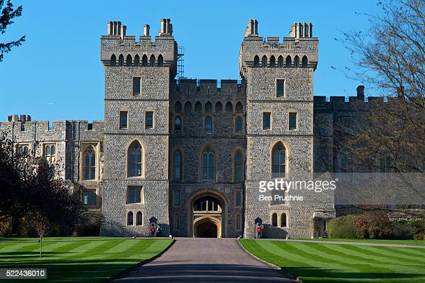 A general view of Windsor Castle ahead of Queen Elizabeth II's 90th birthday celebrations on April 19 2016 in Windsor England The Queen's 90th...