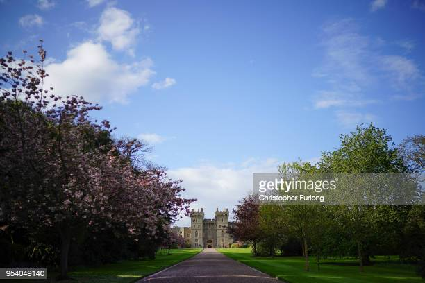 A general view of Windsor Castle as it prepares for the weddiing of Prince Harry and his fiance US actress Meghan Markle May 2 2018 in Windsor...