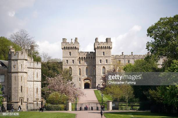 A general view of Windsor Castle as it prepares for the wedding of Prince Harry and his fiance US actress Meghan Markle May 3 2018 in Windsor England...